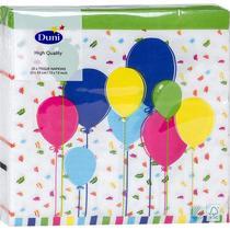 Салфетки Duni бумажные трехслойные Balloons and confet 33х33 см