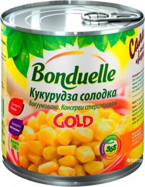 Консерва овощная Bonduelle кукуруза на пару сладкая