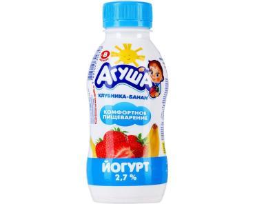 Йогурт Агуша питьевой Клубника-банан 2,7%