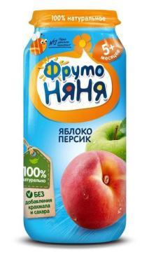Пюре ФрутоНяня Яблоко персик С 5 месяцев