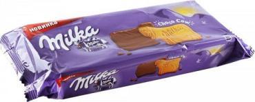 Печенье Milka покрытое молочным шоколадом 200г