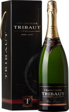 Шампанское Трибо Брют Орижин в п.у. / Tribaut Brut Origine in gift box,  Пино Нуар, Шардоне, Пино Менье,  Белое Брют, Франция