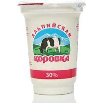Сметанный продукт Альпийская Коровка 30 % 400 г
