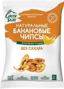 Чипсы банановые GreenShire без сахара
