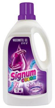 Гель для стирки Signum Color для цветных вещей (19 стирок)