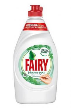 Средство для мытья посуды Fairy Нежные руки Чайное дерево и мята