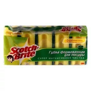 Губка Scotch-Brite для посуды классическая, 5шт