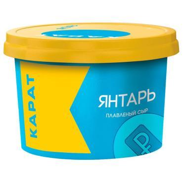 Сыр плавленый,  Янтарь, 230 гр., пластиковая упаковка