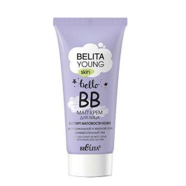 Крем для лица Bielita Young Skin ВВ-matt Эксперт матовости кожи для нормальной и жирной кожи