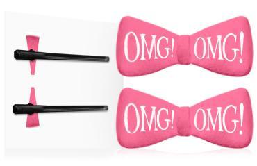 Заколки Double Dare OMG! для фиксации волос, 1 пара