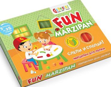 Конфеты неглазированные с корпусом из марципановой конфетной массы Марципан для лепки, Grondard, 75 гр., картонная коробка