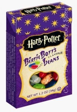 Драже Jelly Belly Harry Potter Bertie Bott's Every Flavour Beans, 34 гр., картонная коробка