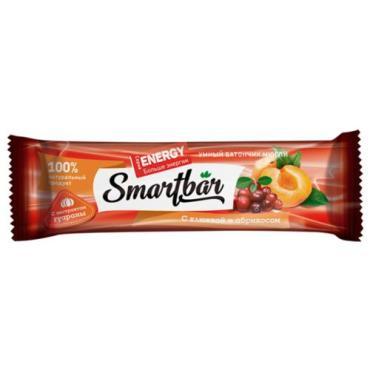 Батончик мюсли Smartbar с клюквой и абрикосом с экстрактом гуараны
