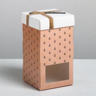 Коробка под капкейк Дарите счастье Для тебя 9х17х9 см. картон