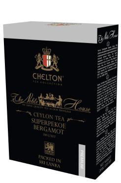 Чай крупнолистовой черный с бергамотом Chelton Благородный дом, 200 гр., картонная коробка