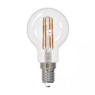 Лампа светодиодная. Форма шар, прозрачная. Серия Sky. Теплый белый свет 3000 К. LED-G45-9W/3000K/E14/CL PLS02WH Uniel, 70 гр., картонная коробка