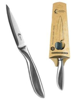 Нож кухонный универсальный из углоридистой стали, длина 23,5 см., шир. рукояти 2,3 см., картонная коробка