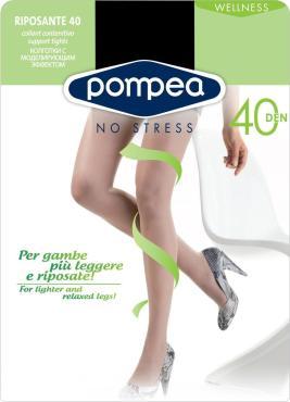 Колготки 40, цвет Nero черный, Pompea Riposante, 50 гр,. пластиковый пакет