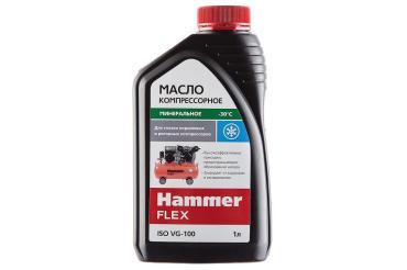 Масло компрессорное 1л., ISO VG-100 Hammer Flex 501-012, 1 кг., канистра