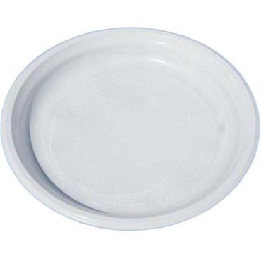 Тарелка d=220 мм., белая, ПП., 50 шт./уп., 750 шт./кор., Альт-Пласт, пластиковый пакет