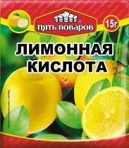 Лимонная кислота Пять поваров, 15 гр., сашет