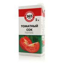 Сок 365 Дней томатный с солью восстановленный 2 л.