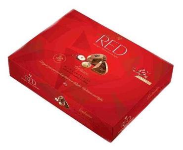 Конфеты Red пралине из молочного шоколада