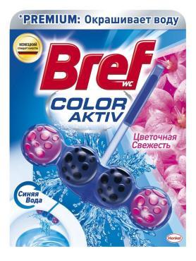 Туалетный блок Bref Color Activ Цветочная свежесть