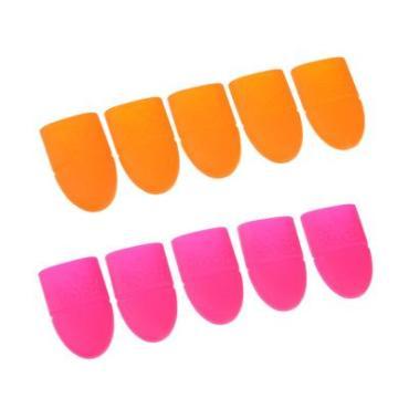 Приспособление для снятия гель-лака силикон 2 цвета 2,8х3,7см. 5 шт.