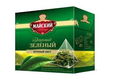 Чай Майский Элитный зеленый в пирамидках