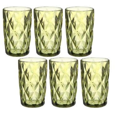 Набор стаканов Magistro Круиз 350 мл. 8х8хх12,5 см. зеленый 6 шт.
