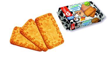 Печенье с ароматом топленого молока, Алматинский продукт, 400 гр., флоу-пак