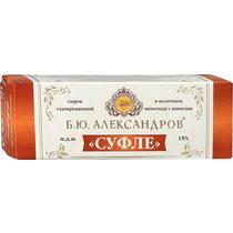 Сырок Б. Ю. Александров глазированный Суфле в молочном шоколаде с ванилью 15%