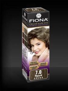 Крем краска для волос тон 7.0 русый Fiona, 220 гр., Картонная коробка