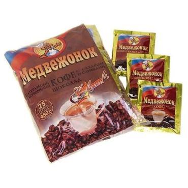 Кофе растворимый 3в1 шоколадный Медвежонок, 450 гр., пластиковый пакет