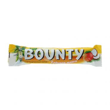 Батончик райское манго шоколадный, Bounty, 52 гр., флоу-пак