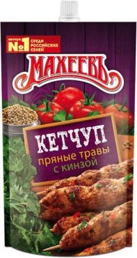 Кетчуп с пряными травами и кинзой Махеевъ, 300 гр., дой-пак с дозатором
