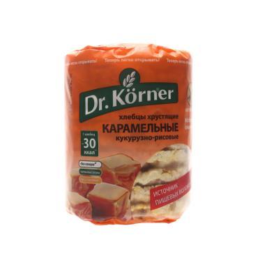Хлебцы Dr. Korner хрустящие кукурузно-рисовые карамельные без глютена