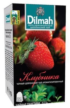 Чай Dilmah Клубника черный ароматизированный 25 пакетиков