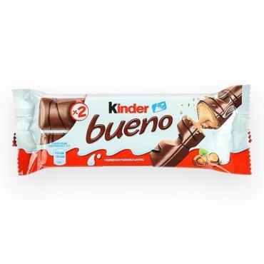 Вафельный батончик Kinder Bueno в шоколаде с молочно-ореховой начинкой