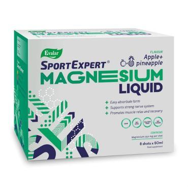 Жидкий магний раствор для приема внутрь Evalar SportExpert Magnesium Liquid, 8 шт., 50 мл., картонная коробка