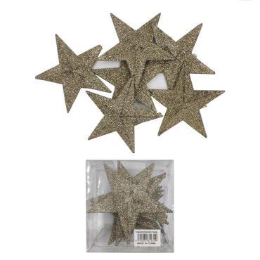 Елочные украшения Звезда 6 шт