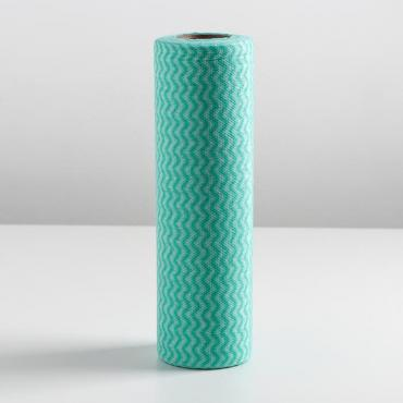 Рулон салфеток перфорированных, вискоза 30 шт 25*30 см, микс цвета 650651