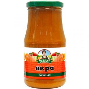 Овощные консервы Угощение Славянки Икра овощная