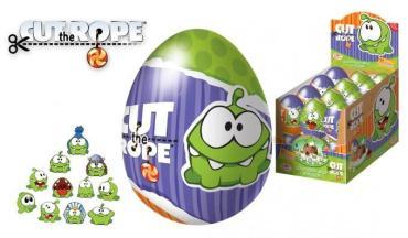 Шоколадное яйцо Cut The Rope с игрушкой и мармеладом