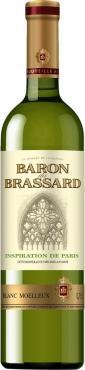 Вино белое полусладкое, 10 %, Baron du Brassard Blanc Moelleux, 750 мл., стекло
