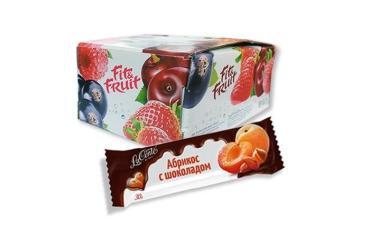 Батончик Fit&Fruit La Conte de fess Абрикос с шоколадом