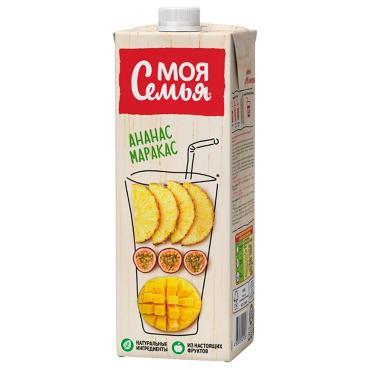 Сок Моя Семья Ананас-манго-маракуйя