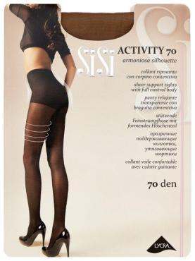 Колготки размер 4-L, Sisi Activity 70 den, 65 гр., бумажная упаковка