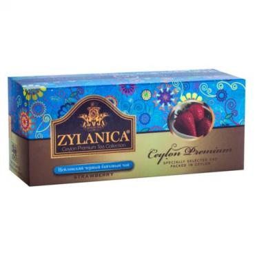 Чай черный Zylanica Ceylon Premium Strawberry 25 пакетов